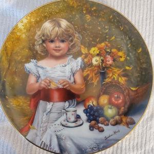 Indian Summer Collectors Plate Sandra Kuck